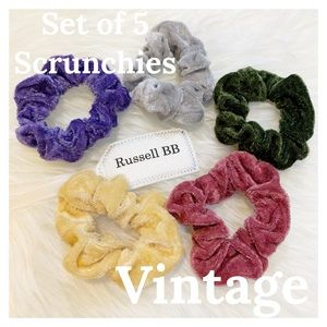 Cute Scrunchies: Vintage (Set of 5)